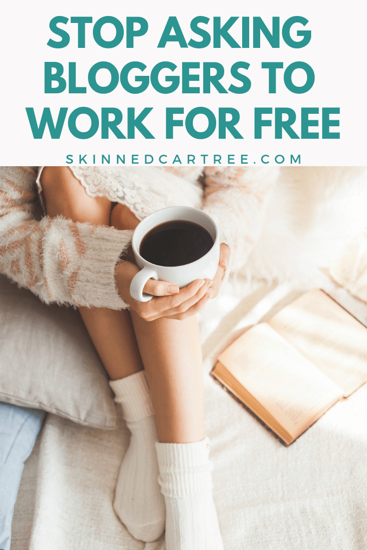 blogger working for free