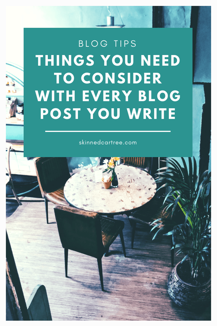 Things you need to consider with every blog post you write
