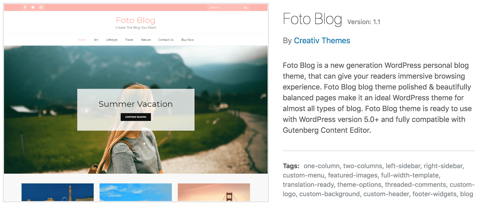 free WordPress themes for bloggers