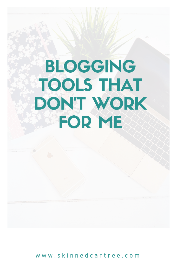 Blogging tools that don't work for me