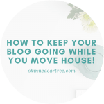 How to keep your blog going while you move house!