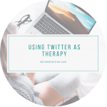 Using Twitter as therapy
