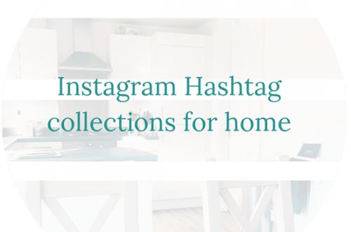 Instagram Hashtag collections for home