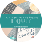 After 5 and a half years of daily blogging, I quit.