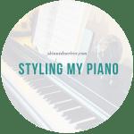 Styling my new Yamaha Clavinova CLP 625 Piano