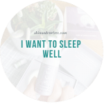 I want to sleep well – scentered aromatherapy balms