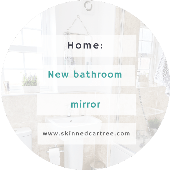 New bathroom mirror, only a year later..