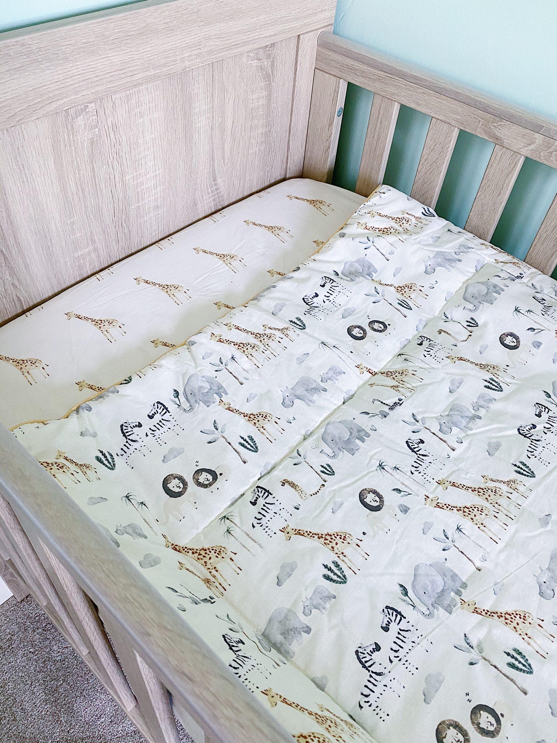 Our Baby's Nursery - Safari Theme cot bedding