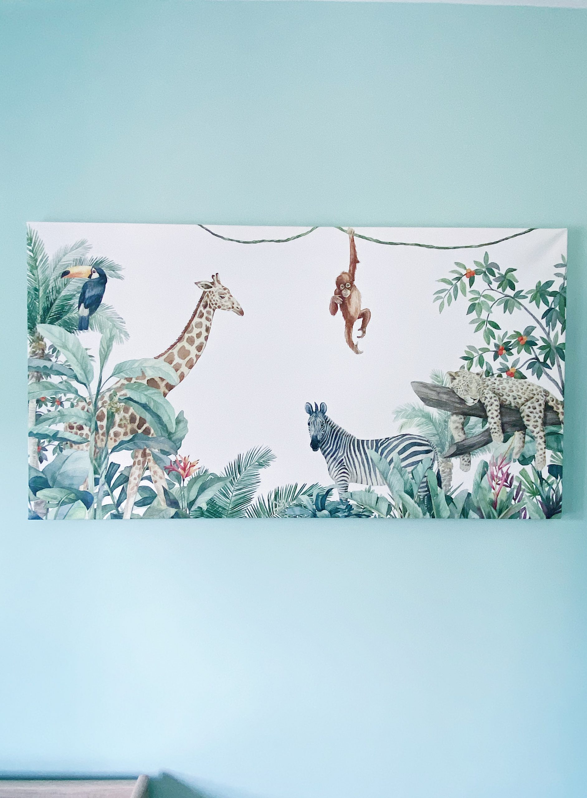 Our Baby's Nursery - Safari Theme canvas