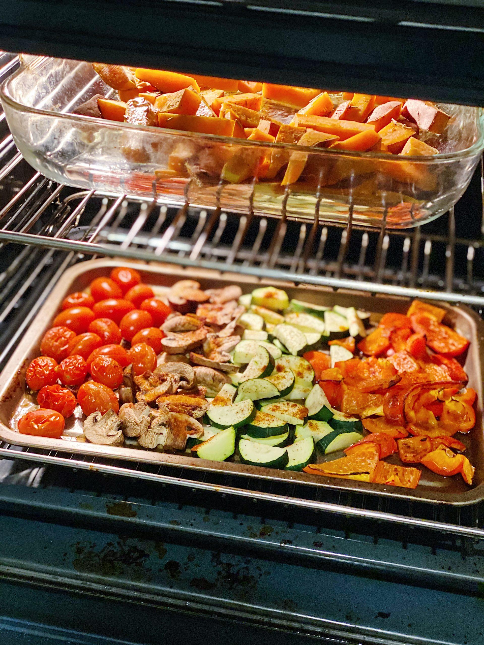 over roast vegetables