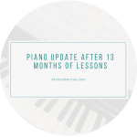 Piano Update // a year of lessons