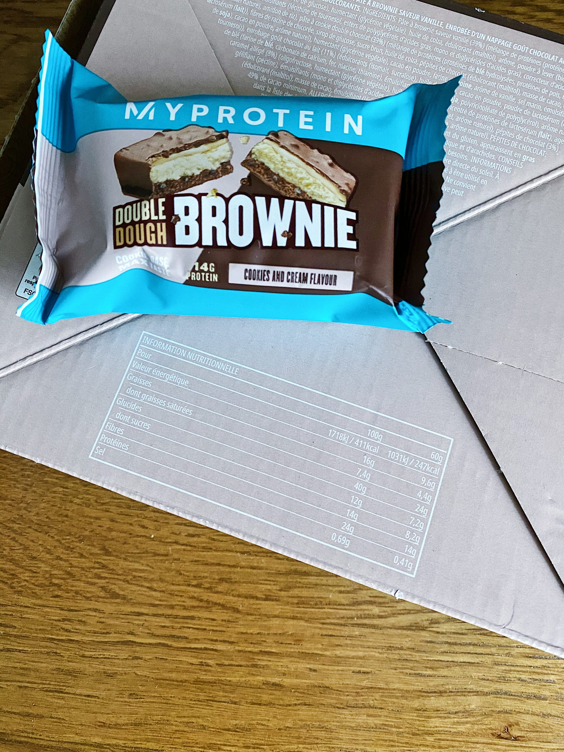 myprotein cookies brownies double dough